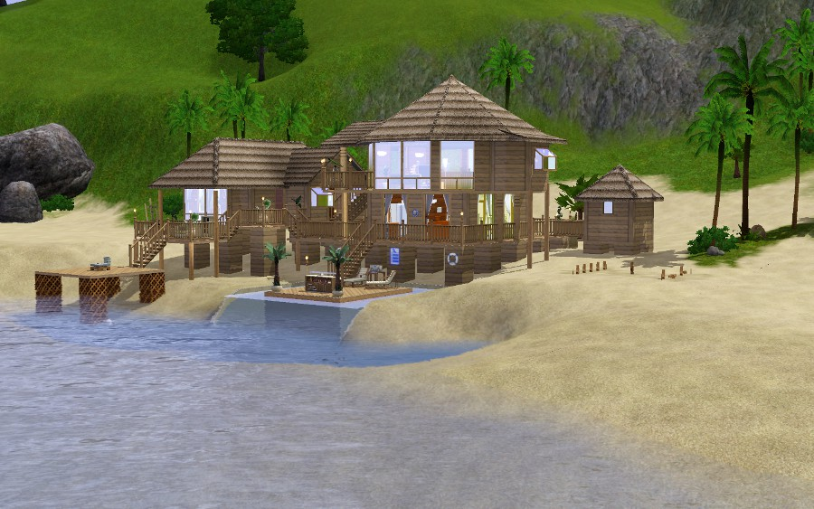 Sims hungary tropical beach house let lt s for Beach house 3 free download